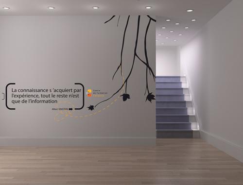 un design mural pour sublimer un centre de formation adh sif sticker grand format. Black Bedroom Furniture Sets. Home Design Ideas