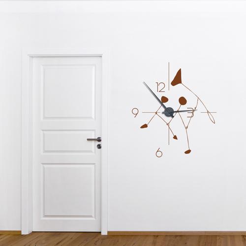 d couvrez les horloges murales g antes en sticker avec leurs grandes aiguilles de grands formats. Black Bedroom Furniture Sets. Home Design Ideas
