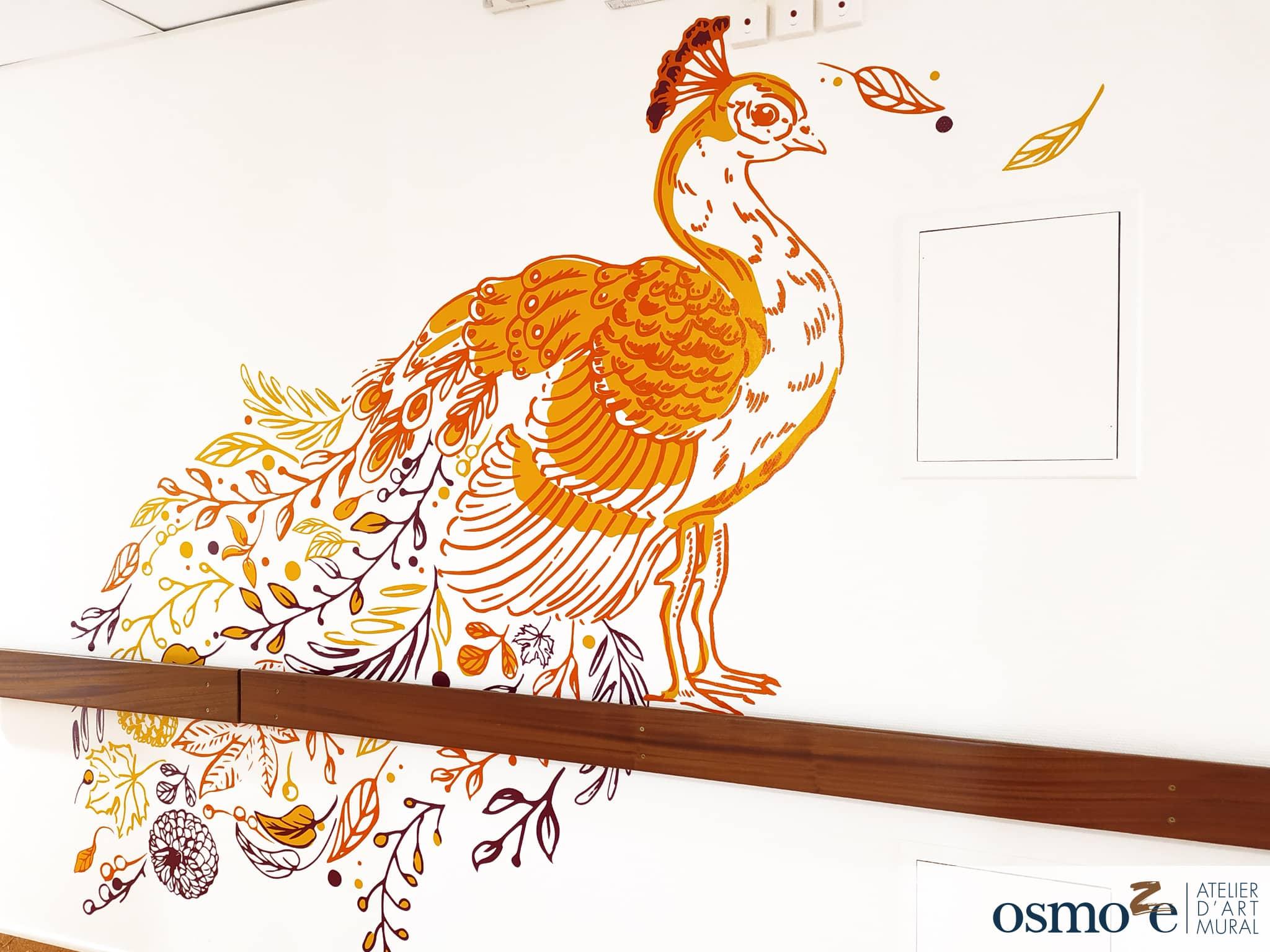 décoration murale et signalétique artistique > Décoration et signalétique murale contemporaine > animale > Ehpad Maison Saint Joseph > couloir
