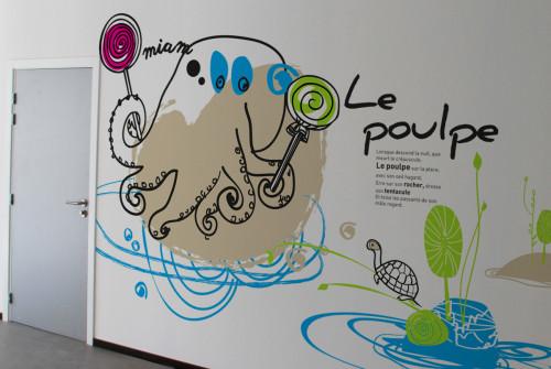 Art Mural > Décoration > Signalétique > Institut pour enfant handicapé