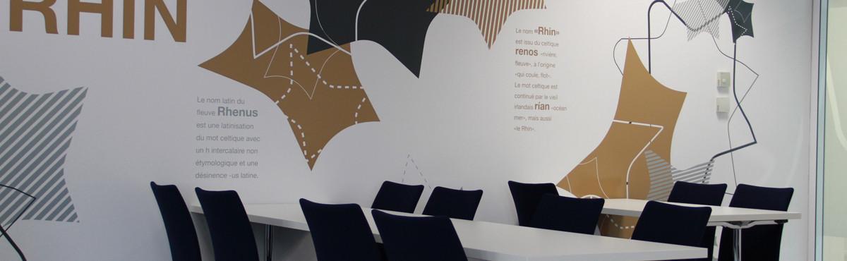 Osmoze - Atelier d'Art mural > décoration design mural salle de réunion