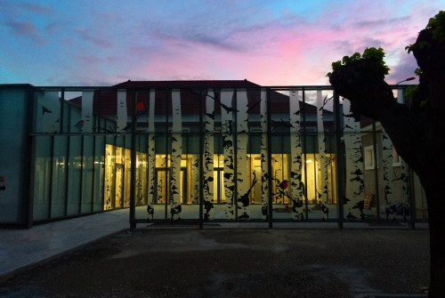 Osmoze - Atelier d'Art mural > décoration façade vitrée, mur rideau