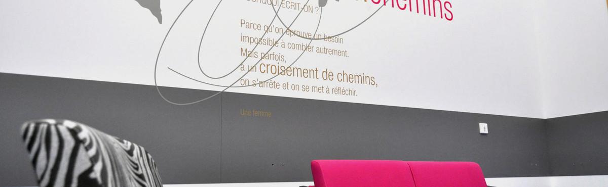 Osmoze - Atelier d'Art mural > Décoration design mural monumental hall d'attente