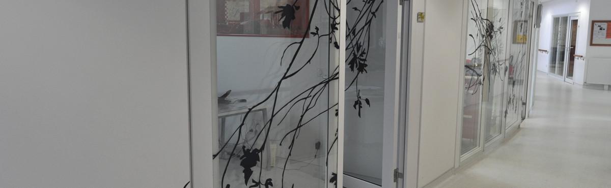 Osmoze - Atelier d'Art mural > Décoration vitrophanie couloir