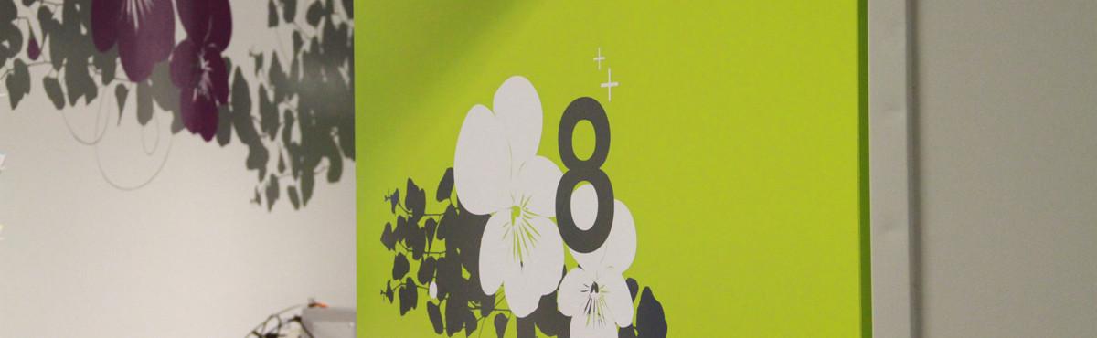 Osmoze - Atelier d'Art mural > Signalétique artistique porte salle