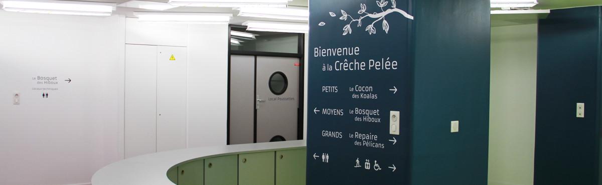 Osmoze - Atelier d'Art mural > décoration signalétique hall accueil crèche