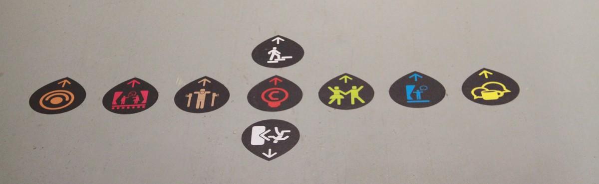 Osmoze - Atelier d'Art mural > Pictogrammes, signalétique de sol