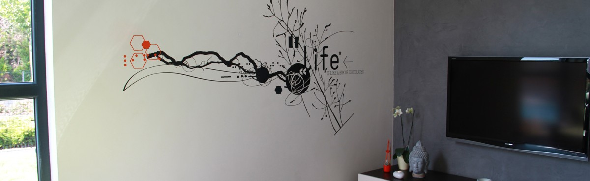 Osmoze - Atelier d'Art Mural > sticker design contemporain