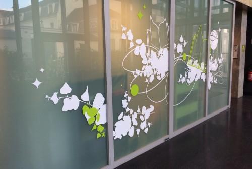 art mural hopital decoration hall accueil