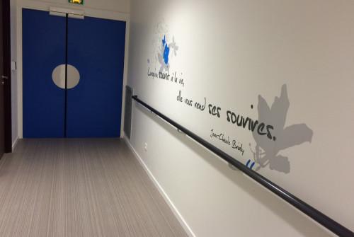 Art Mural > Décoration et Signalétique > Mur > Ehpad > Marquage