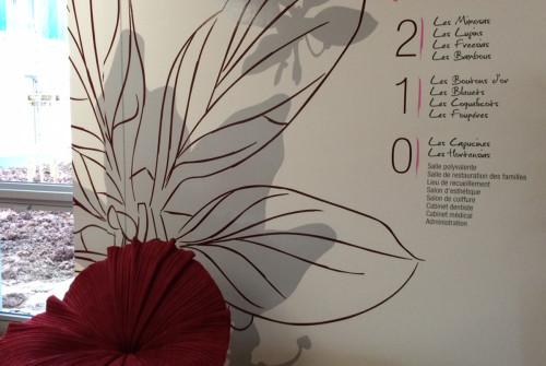 Art Mural > Décoration et Signalétique > Mur > Ehpad > Hall Accueil Visiteurs