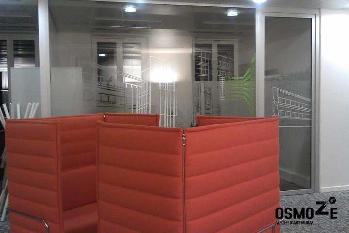 Décoration Entreprise > Vitrophanie Design > Création et Fabrication