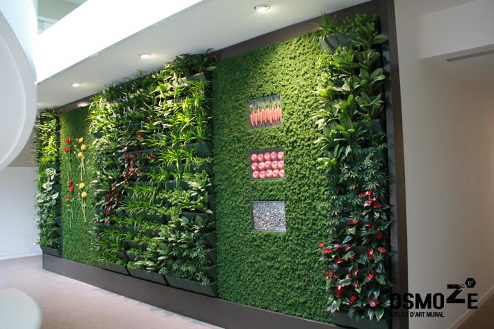 decoration murale vegetale