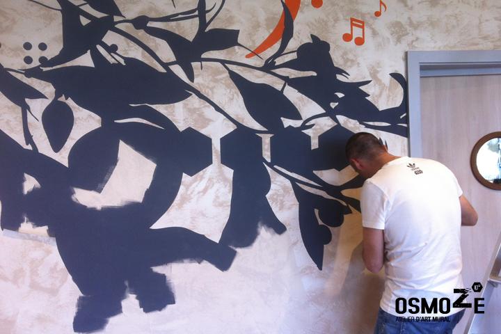Peinture Murale Décoration > Restaurant Maison Retraite
