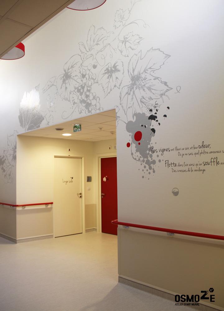 Décoration Ehpad > Art Mural > Osmoze > Unité de vie