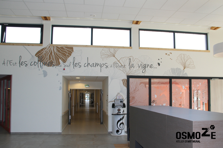 Décoration Ehpad > Art Mural > Espace de vie