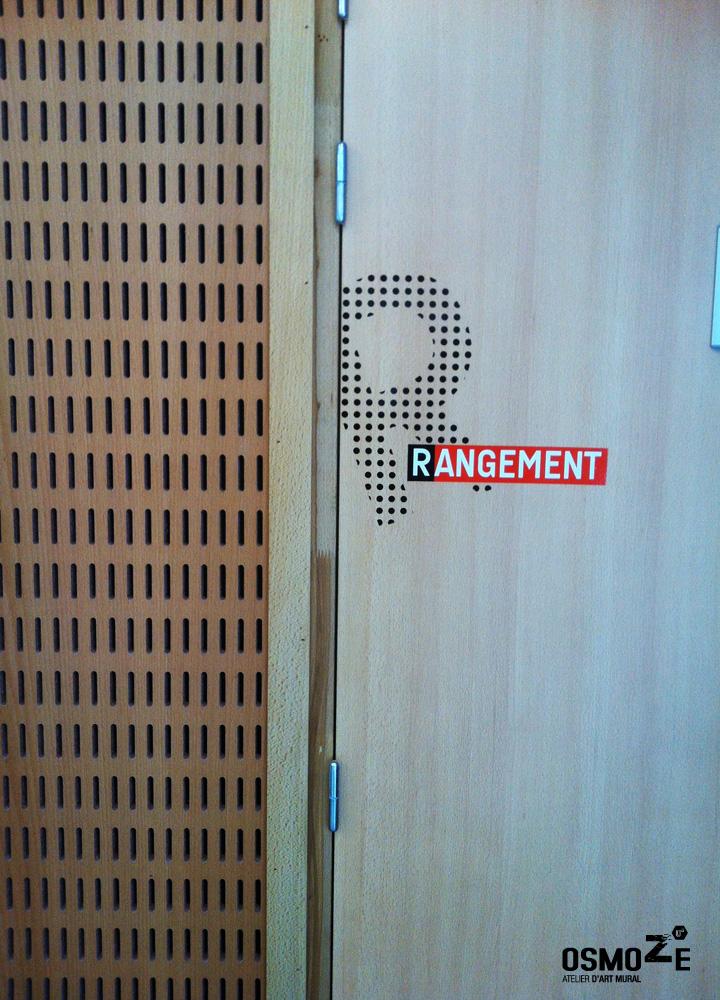 Médiathèque > Décoration Murale > Signalétique intérieure > Marquage Linéaire et porte