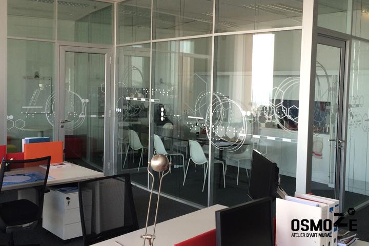 Vitrophanie salle réunion > AOS > Architecture > Lyon