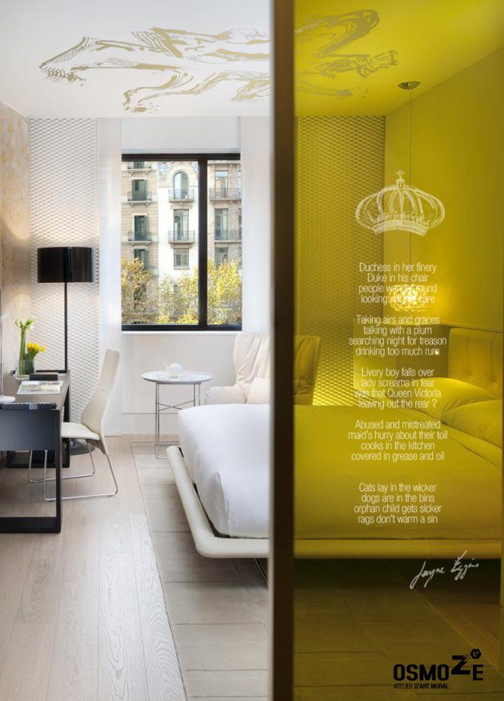 Décoration Hôtel > Atelier Art Osmoze > Design Monumental Chambre