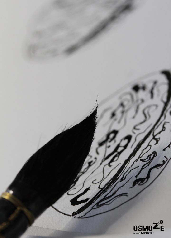 Décoration Entreprise > Atelier Art Osmoze > Dessin