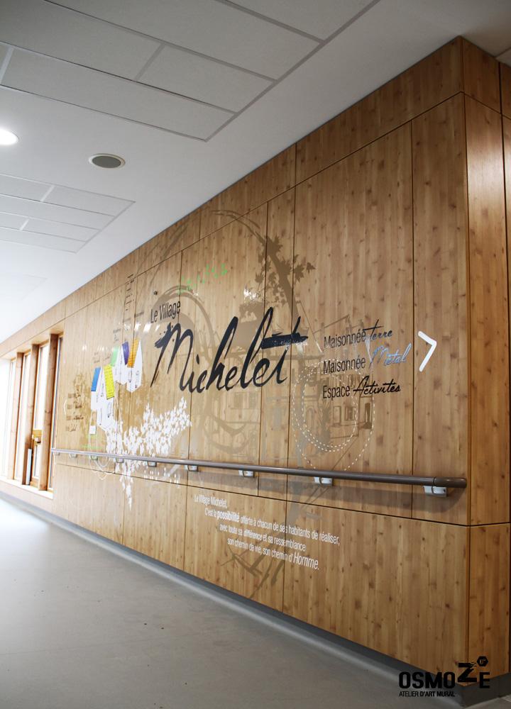 Décoration murale > Centre Adultes Enfants Inadaptés Handicapés > Marquage Bois