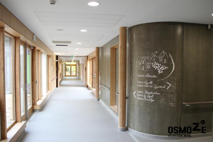 Décoration murale > Centre Adultes Enfants Inadaptés Handicapés > Marquage béton