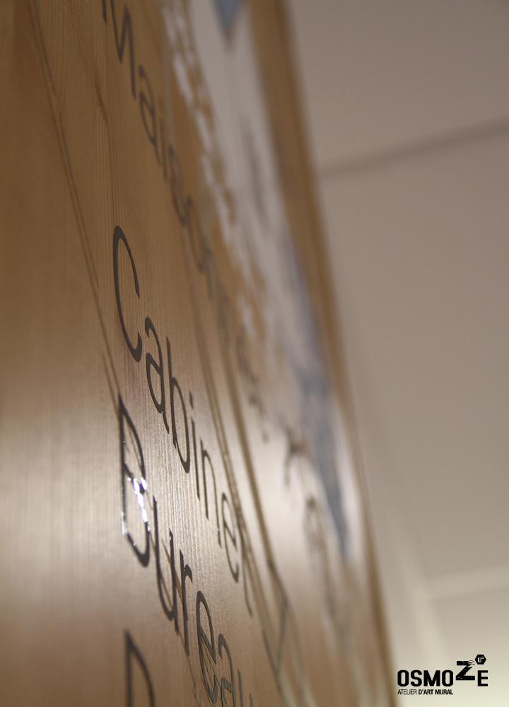 Décoration murale > Centre Adultes Enfants Inadaptés Handicapés > Design > Marquage sur bois