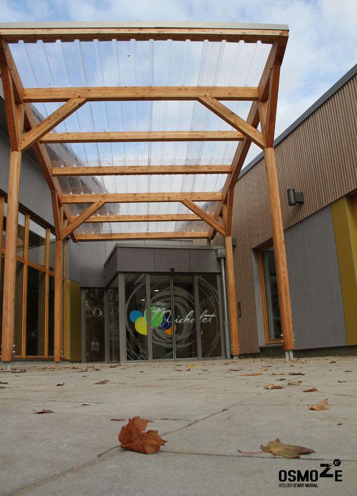 Décoration murale > Centre Adultes Enfants Inadaptés Handicapés > Vitrophanie > Signalétique Sas d'entrée