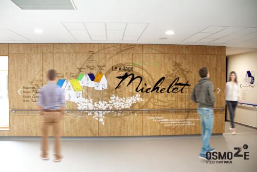 Décoration murale > Centre Adultes Enfants Inadaptés Handicapés > Design > Signalétique Unité de vie