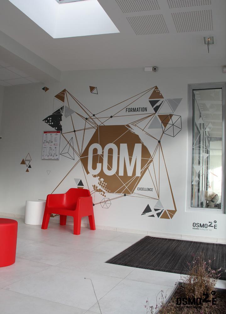 Décoration murale > Signalétique > Ecole Universite ISCOM > Agencement Mobilier Art