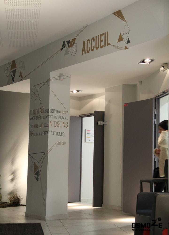 Décoration murale > Signaletique > Ecole Universite ISCOM > Design hall accueil