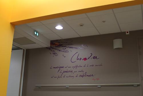 Signalétique EHPAD Prat Maria Quimper > Accueil Intérieur > Décor couloir