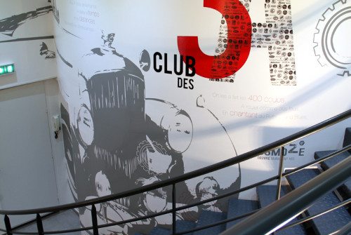 Club 3 a lyon osmoze for Decoration murale fiat 500