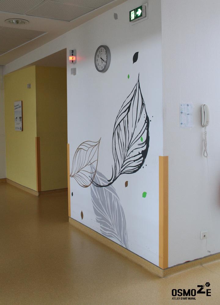 Décor Mural Ehpad > Hall Accueil > Décoration Couloir > Végétale et florale