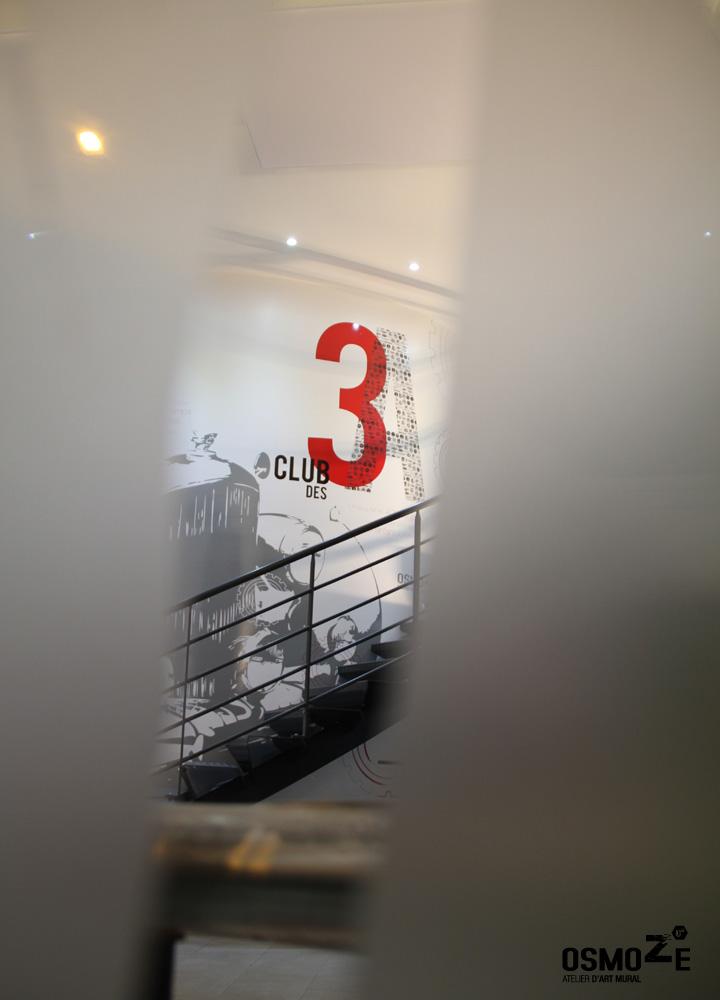 Décor Mural Club3A Automobile Lyon > Façade dépolie > Décoration Murale