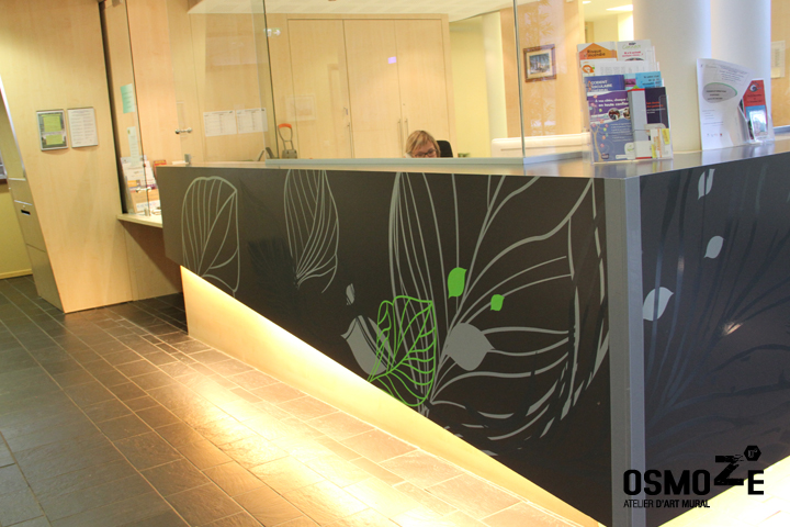 Décor Mural Ehpad > Hall Accueil > Décoration Banque > Végétale et florale