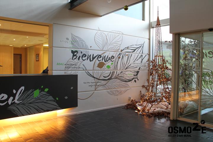 Décor Mural Ehpad > Hall Accueil > Décoration intérieure > Végétale et florale