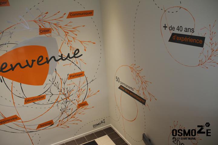 Décoration > Fresque > Cage Escalier > Décor Mural Corporate