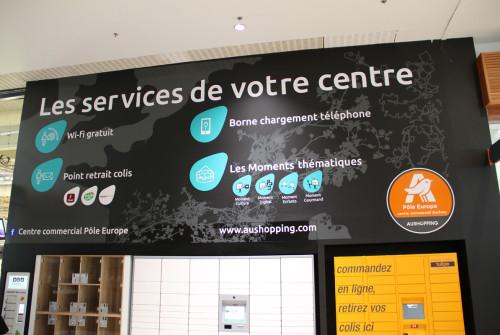Décoration Murale > Mur de Service > Centre et Galerie Commerciale