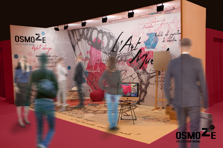 Signalétique Art Mural > Stand Salon Paris 2016 > Ehpad Hopital Fem Mas Fas > Porte de Versaille