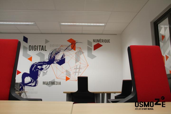 Décoration Accueil Géante > Mur Digital > Espace Coworking La Fabrik > Evry