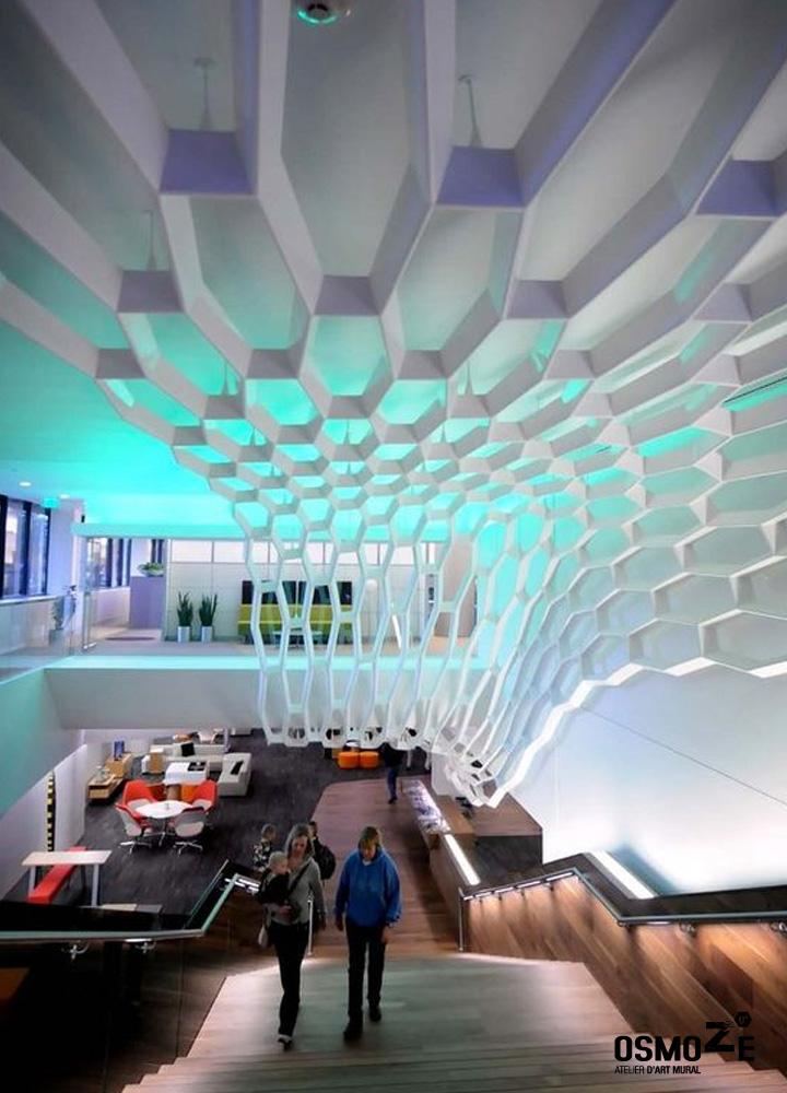 Décoration Murale Architecturale > Steelcase> Art Graphique > Work Café