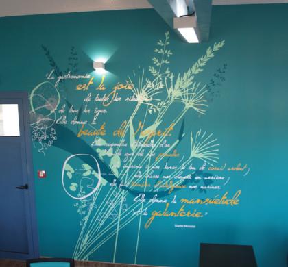 Décoration Murale Signalétique > Ehpad Les Eaux Vives > Triaucourt > Restaurant