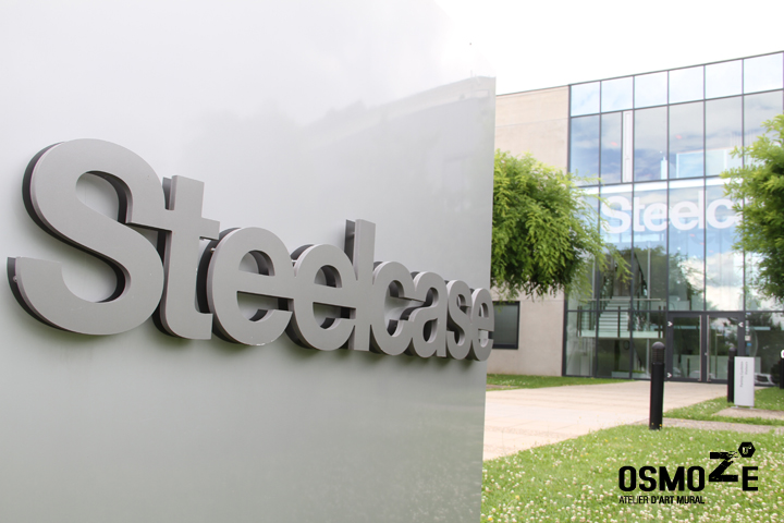Le si ge france du groupe steelcase remodel par notre for Decoration murale usa