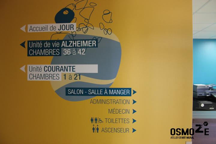 Décoration Murale Signalétique > Ehpad Les Eaux Vives > Triaucourt > Directionnel