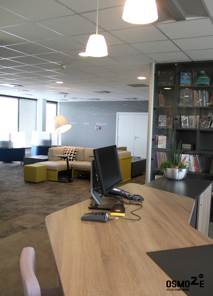 Décoration Murale Architecturale > Steelcase> Art Graphique > Workcafé et Open Space