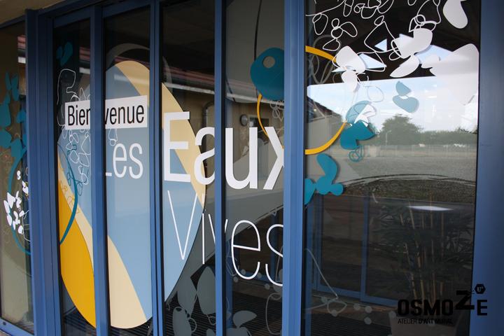 Décoration Murale Signalétique > Ehpad Les Eaux Vives > Triaucourt > Entrée Vitrophanie