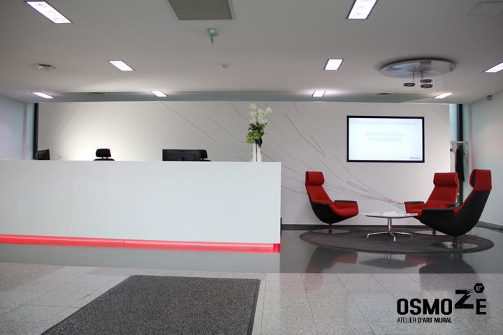 Décoration Murale Architecturale > Steelcase> Art Graphique > Banque accueil Hall