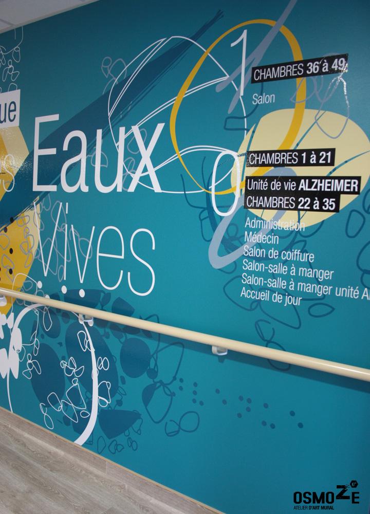 Décoration Murale Signalétique > Ehpad Les Eaux Vives > Triaucourt > Entrée Hall Accueil