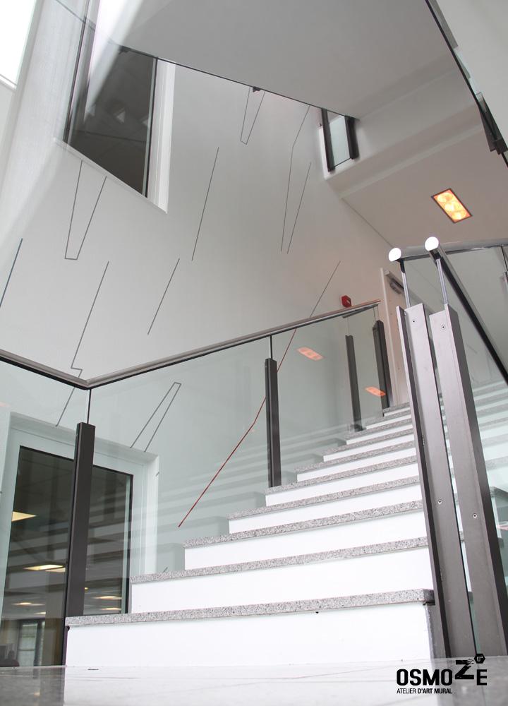 Décoration Murale Architecturale > Steelcase> Art Graphique > Cage Escalier